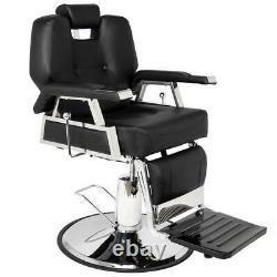Heavy Duty Fashion Hydraulic Barber Chair Recline Salon Beauty Spa Shampoo Black