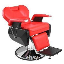 Heavy Duty Hydraulic Lift Reclining Barber Chair Salon Health Beauty Spa Hair