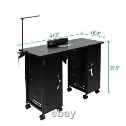 Heavy Vented Manicure Nail Station Steel Frame Beauty Spa Salon Equipment Drawer