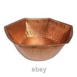 Hexagonal Bare Copper Foot Bath Massage Spa Beauty Salon Therapy Pedicure Bowl