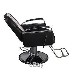 Hydraulic All Purpose Recline Barber Chair Salon Beauty Shampoo Spa Equipment