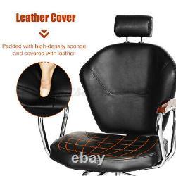 Hydraulic Barber Chair Recliner Styling Salon Spa Hair Shampoo Beauty Equipment