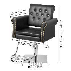 Hydraulic Barber Chair, Salon Hair Styling Chair, Beauty Spa Height Adjust Black