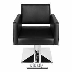 Hydraulic Black Barber Chair Ladies Hair Salon Spa Styling Beauty Equipment