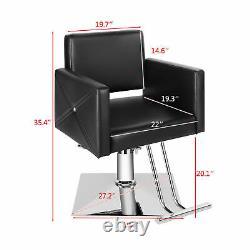Hydraulic Black Barber Chair Ladies Hair Spa Salon Styling Beauty Equipment