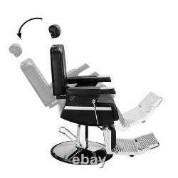 Hydraulic Recline Barber Chair Heavy Duty Shampoo Spa Beauty Salon Equipment