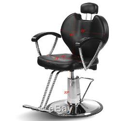 Hydraulic Reclining Barber Chair Hair Styling Salon Beauty Shampoo Spa Equipment
