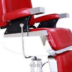 Hydraulic Reclining Barber Chair Hair Styling Salon Beauty Shampoo Spa Styling