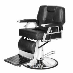 Hydraulic Reclining Barber Chair Hair Styling Salon Beauty Spa Shampoo Equipment
