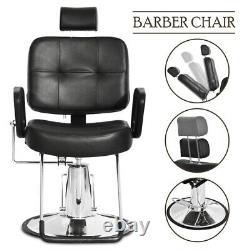 Hydraulic Reclining Barber Chair Salon Beauty Spa Shampoo Styling Equipment