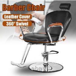 Hydraulic Reclining Barber Chair Salon Spa Shampoo Hair Stylist Beauty Equipment