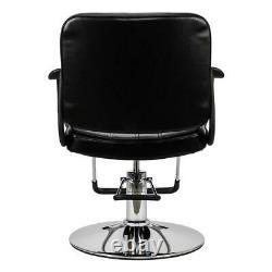 Hydraulic Salon Barber Chair Shampoo Hair Styling Beauty Spa Equipment Black