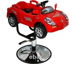 Kids Children Race Car Barber Salon Chair Child Spa Beauty Furniture