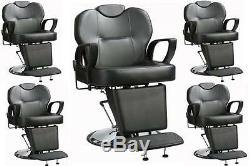 Lot of 5 All Purpose Hydraulic Recline Barber Chair Salon Beauty Spa Styling