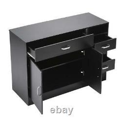 MDF Beauty Salon Styling Station Cabinet Spa Equipment Drawer Desk Furniture