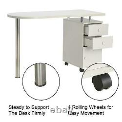 Manicure Nail Table Practical 2-Drawer Station Desk Spa Beauty Salon Equipment