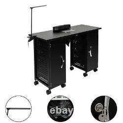 Manicure Nail Table Rolling Station Desk Spa Beauty Salon Equipment Furniture
