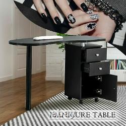 Manicure Nail Table Station Desk Spa Salon Beauty Equipment with 2 Drawers