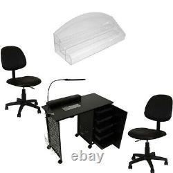 Manicure Station Vented Nail Table Ergonomic Chair Salon Spa Beauty Equipment