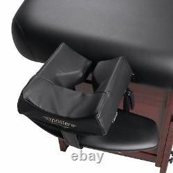 Master Massage 30 Cabrillo Stationary Table Spa Salon Backrest Beauty Bed Black