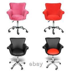 Microfiber Beauty Nail Salon Chair Bar stool Spa Vanity Seat Swivel Commercial