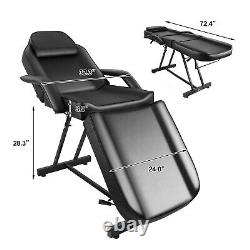Multi-purpose Massage Table Adjustable Bed Beauty Spa Salon WithFree Barber Stool
