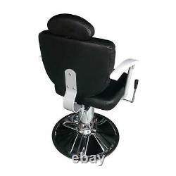 New Hydraulic Reclining Barber Chair Shampoo Salon Stylist Stations Beauty Spa