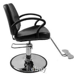 New Hydraulic Salon Chair Health Beauty Spa Hair Styling Seat Black Barber Shop