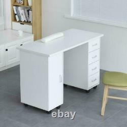 New Manicure Nail Table Station Spa Salon Beauty Equipment 4 Drawers Furniture