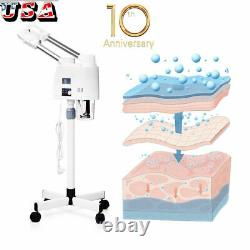 New Professional Facial Steamer UV Hot&Cold Ozone Beauty Salon Spa Skin Care US