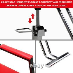 New Reclining Hydraulic Barber Chair Salon Beauty Spa Shampoo Styling Equipment
