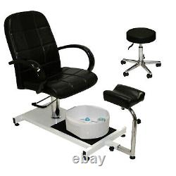 Pedicure Station Hydraulic Chair & Massage Foot Bath Beauty Spa Salon Equipment