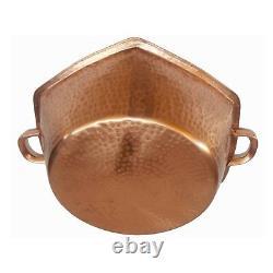 Polished Hexagon Copper Foot Bath Massage Spa Beauty Salon Therapy Pedicure Bowl