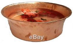 Portable Copper Foot Soak Bath Pedicure Bowl Massage Beauty Salon Spa Therapy