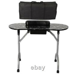 Portable Large Manicure Nail Table Station Desk Spa Beauty Salon Equipment withBag