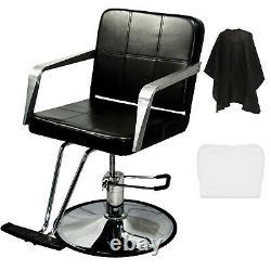 Professional Black Hydraulic Barber Chair Styling Salon Spa Beauty Equipment