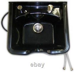 Professional Shampoo Bowl With Vacuum Breaker Beauty Salon Spa Equipment Black