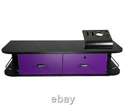 Purple Locking Wall Mount Styling Station Appliance Salon Spa Beauty Equipment