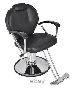 Recline Hydraulic Barber Chair Beauty Salon Spa Purpose Hair Stylist Equipment
