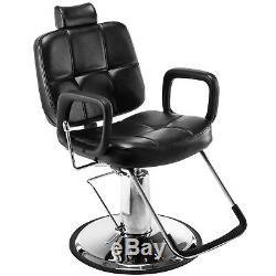 Reclining Hydraulic Barber Chair Salon Shampoo Hair Styling Beauty Spa Equipment