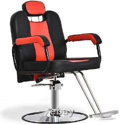 Reclining Hydraulic Barber Chair Salon Styling Beauty Spa Shampoo 8241