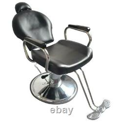Reclining Hydraulic Barber Chair Seat Hair Stylist Station Salon Spa Beauty Shop