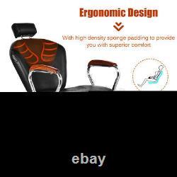 Reclining Hydraulic Barber Chair Swivel Salon Beauty Styling Spa Shampoo Lift