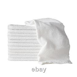 SSS 100g WHITE Hand Towels Hair Salon Barber Beauty Gym Hotel Spa 100% Cotton