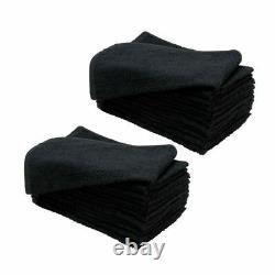 SSS 95g BLACK Bleach Proof Hand Towels Hair Salon Barber Beauty Spa 100% Cotton