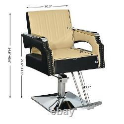 Salon Chair For Hair Stylist, Barber Styling Chair, Beauty Spa Equipment 8817C