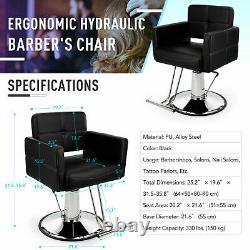 Salon Hair Styling Chair Barber Chair Beauty Salon Hair Beauty Spa Equipment PU