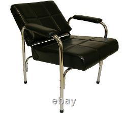 Shampoo Chair Auto Reclining Cross Stitched Styling Salon Spa Beauty Furniture