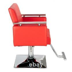 Square Adjustable Hydraulic Barber Chair Hair Styling Salon Spa Beauty Equipmet