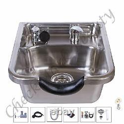 Stainless Steel Shampoo Sink Salon Spa Beauty Equipment brushed TLC-1167